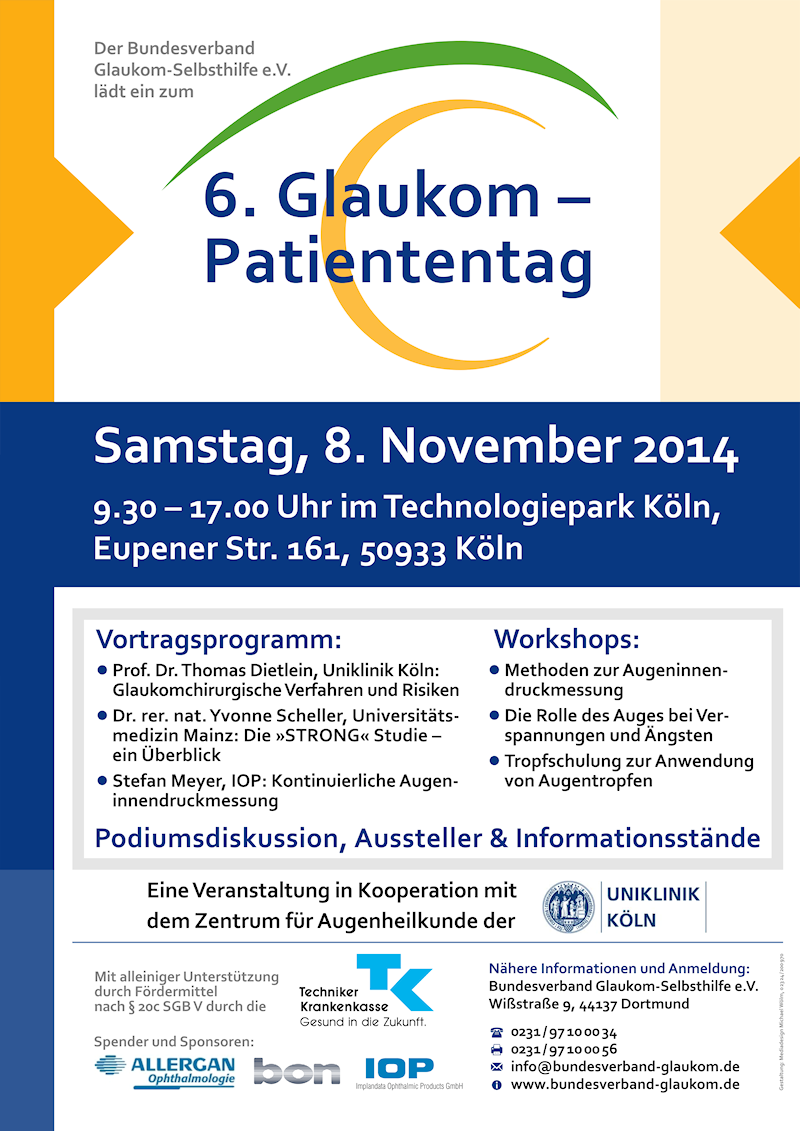 Bundesverband Glaukom-Selbsthilfe e.V., Plakat Glaukom-Patiententag 2014