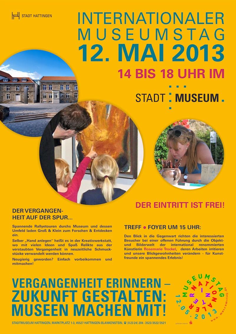 Plakat zum Internationalen Museumstag 2013 im Stadtmuseum Hattingen