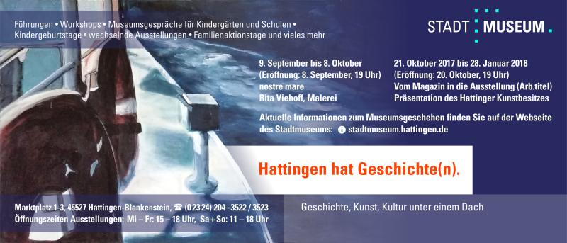 Werbeanzeige Stadtmuseum Hattingen für das vhs-Programmheft Herbst 2017