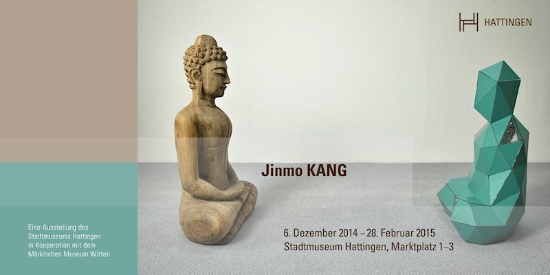Einladungskarte zur Ausstellung Jinmo KANG im Stadtmuseum Hattingen, 2014, Vorderseite