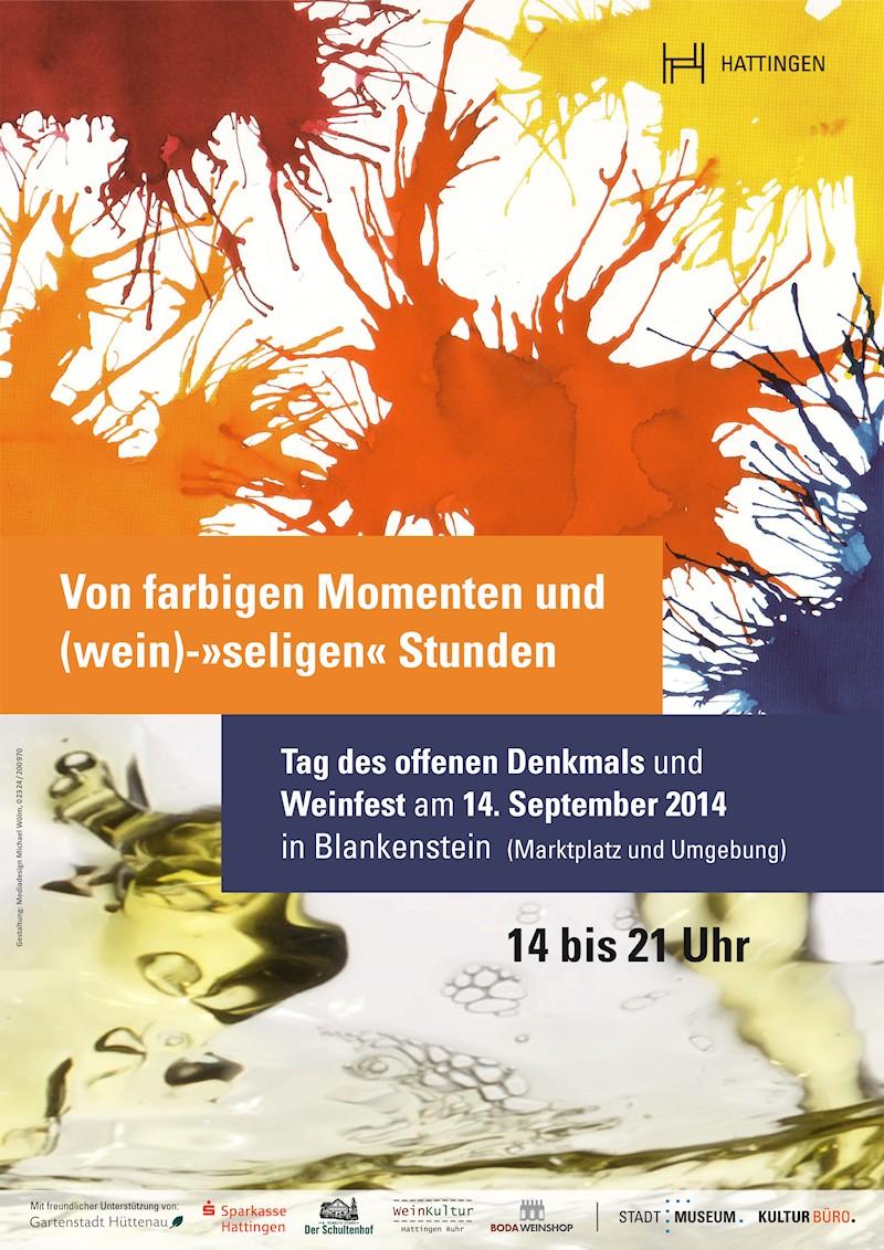 Tag des offenen Denkmals und Weinfest 2014 in Blankenstein