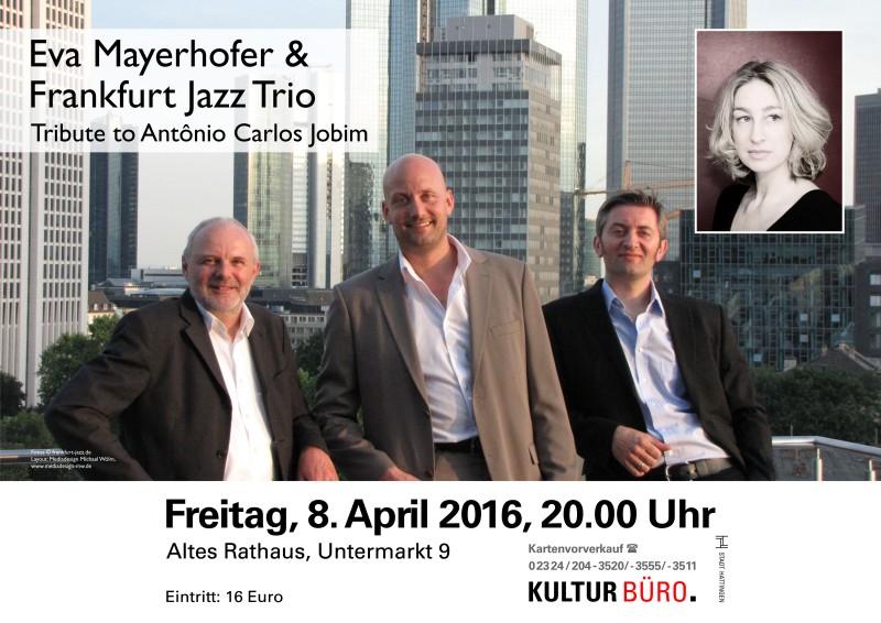 Konzertplakat Frankfurt Jazz für das Kulturbüro Hattingen