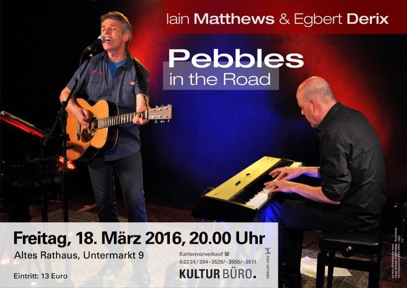 Konzertplakat Iain Matthews & Egbert Derix für das Kulturbüro Hattingen