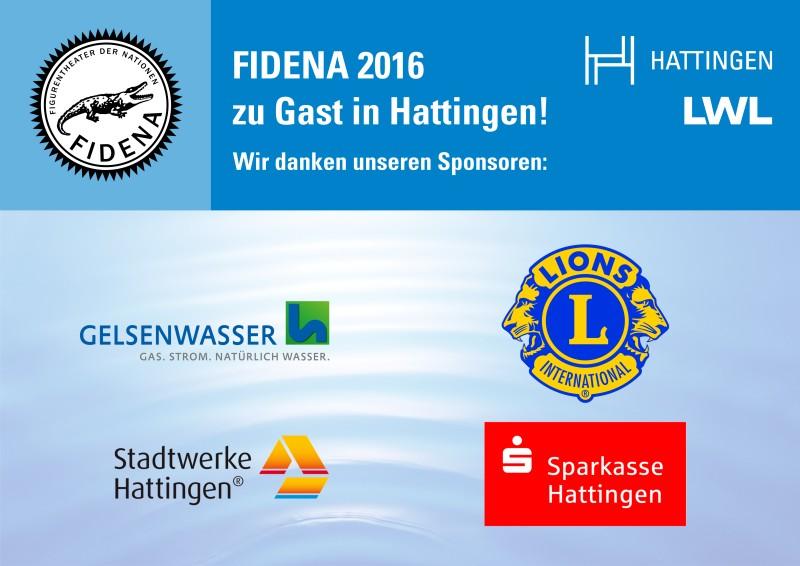 Sponsorenplakat FIDENA 2016 für das Kulturbüro Hattingen