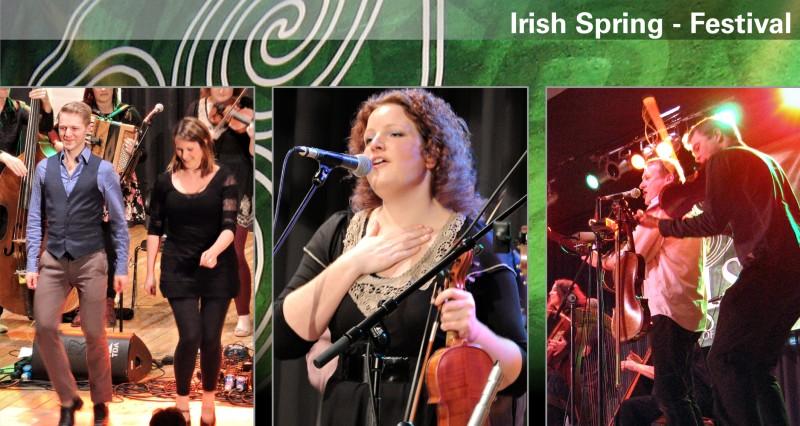 """Webseitenbanner Bereich """"Irish Spring Festival"""" für das Kulturbüro Hattingen"""