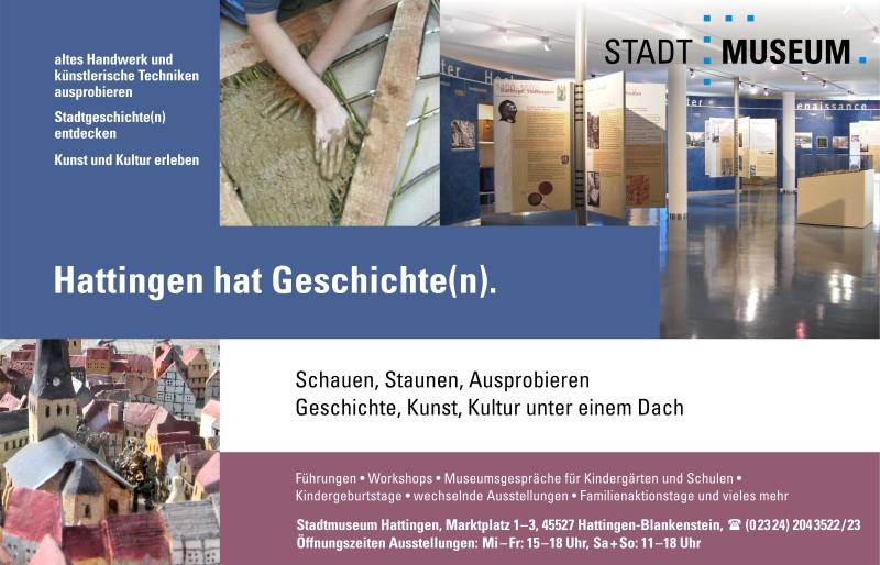 Werbeanzeige Stadtmuseum Hattingen für das vhs-Programmheft Herbst 2015