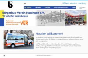 Webdesign für den Bürgerbus-Verein Hattingen e.V.