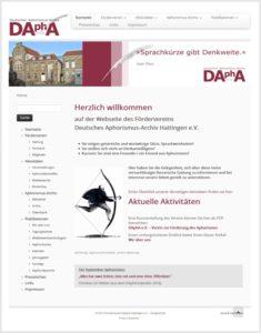 Webdesign für das Deutsche Aphorismus-Archiv Hattingen (DAphA) e.V.