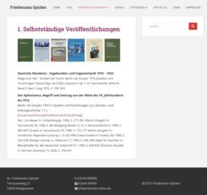 Webdesign für Friedemann Spicker, Aphoristiker
